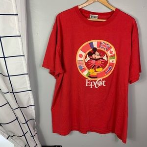 Walt Disney World Red Epcot Short Sleeve
